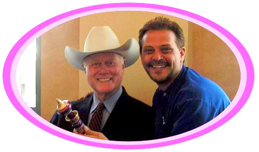 Larry Hagman and Mario
